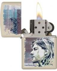 KURT COBAIN MATTE CREAM LIGHTER.