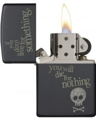 zippo-live-for-something-calavera-negro-mate-2